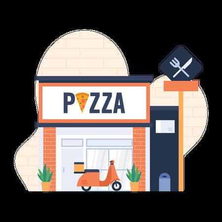 Pizza shop Illustration