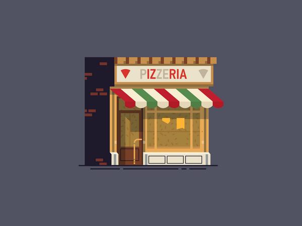 Pizzeria Illustration