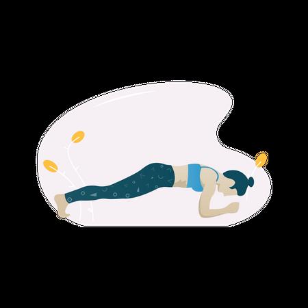 Plank exercise Illustration