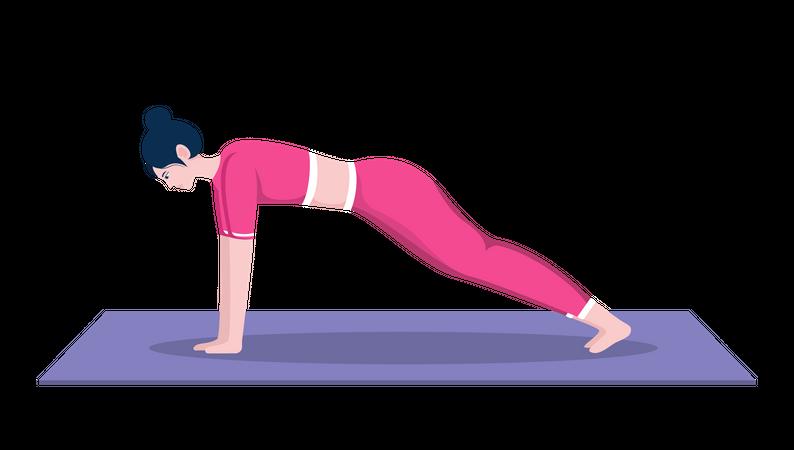 Plank pose Illustration