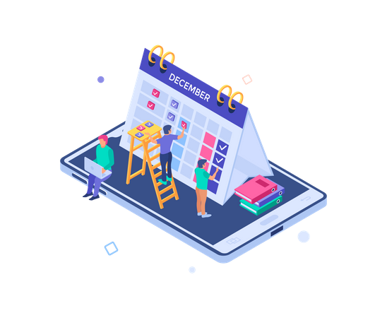 Planning and schedule Illustration
