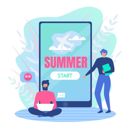 Planning For Summer Holidays Illustration