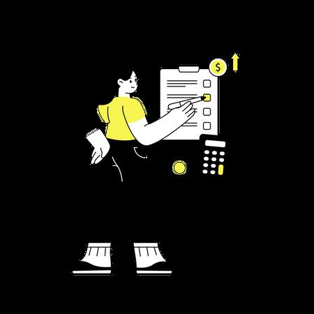 Planning profit Illustration