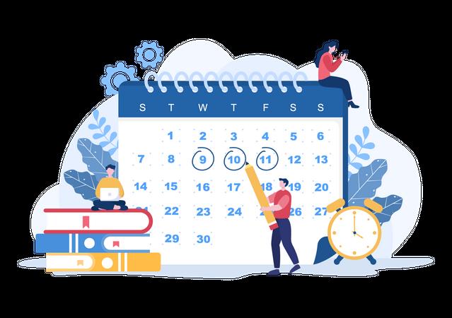 Planning Schedule Illustration