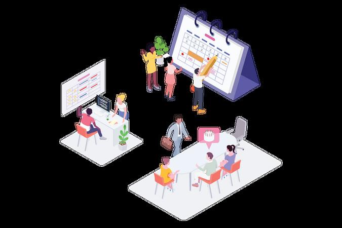 Planning schedule concept Illustration