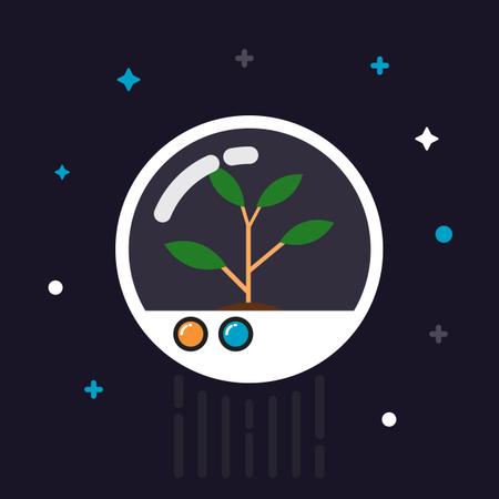 Plant In Capsule Illustration