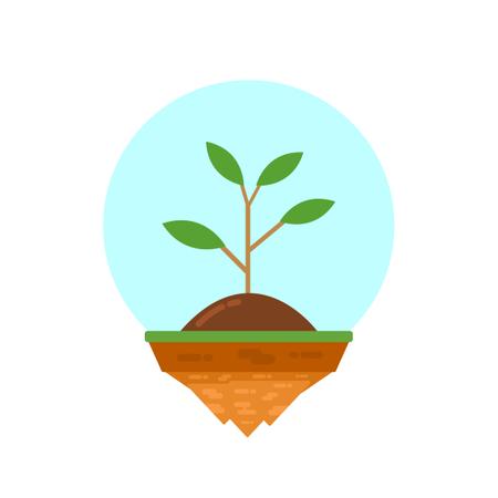 Plant On Island Illustration