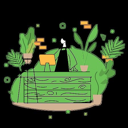 Plant Store Illustration