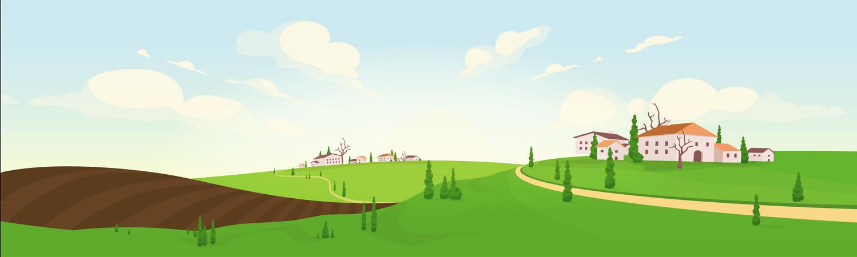 Planting Season In French Village Illustration