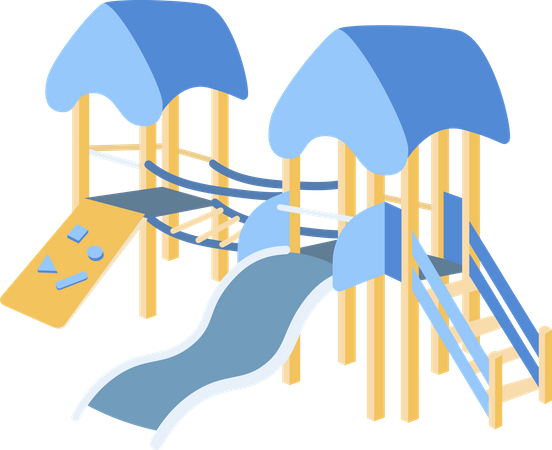 Playground children slide Illustration