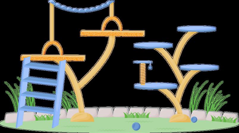 Playground for pets Illustration