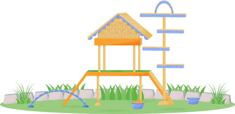 Playhouse for pets Illustration