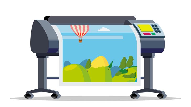 Plotter, Printer Vector Illustration