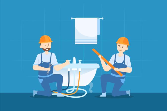 Plumber service Illustration