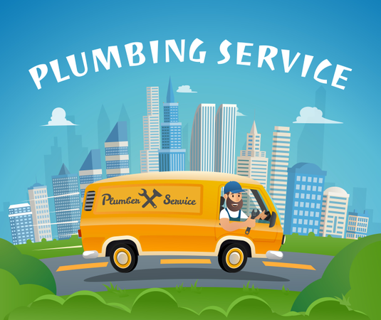 Plumbing Service Illustration