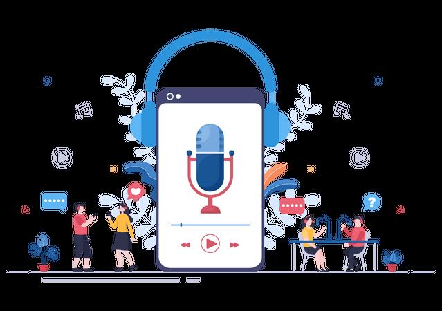 Podcast Application Illustration