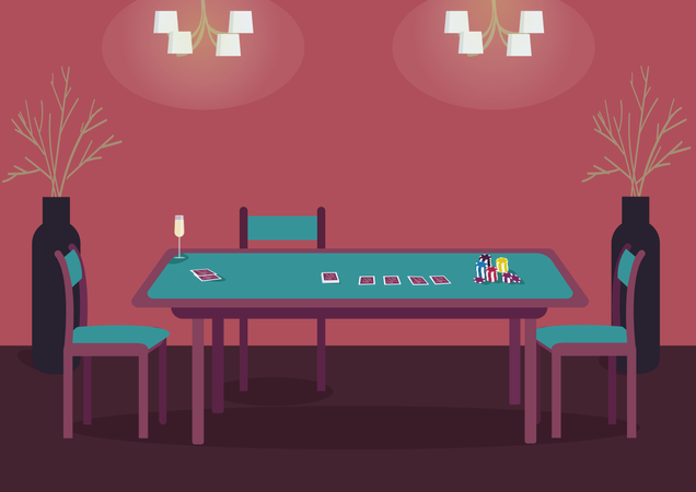 Poker table Illustration