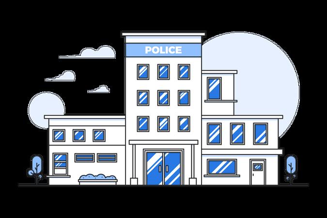 Police building Illustration