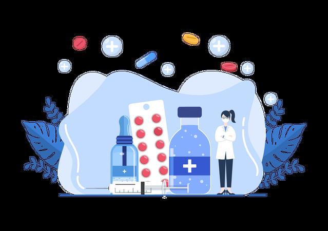 Polio medication Illustration