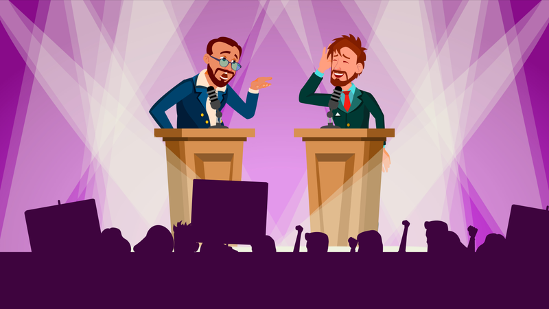 Political Meeting Illustration