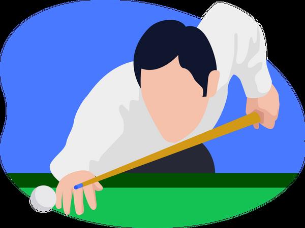 Pool Player Illustration