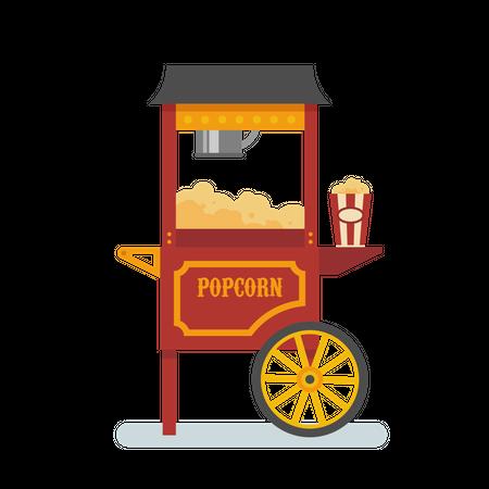 Popcorn machine Illustration