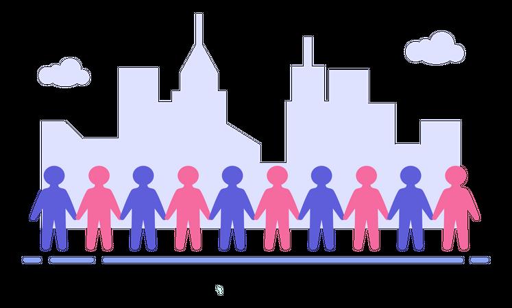 Population Day Illustration