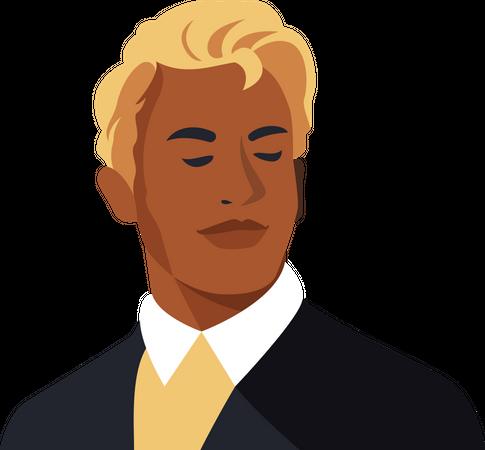Portrait of handsome men Illustration