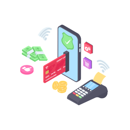 Pos Wireless Payment Illustration