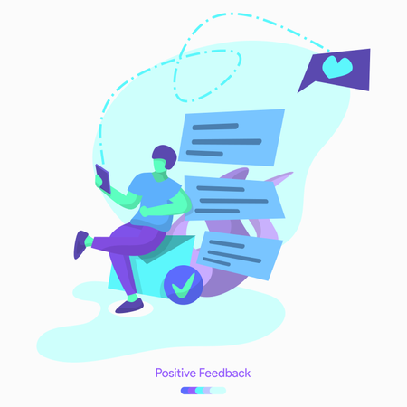 Positive Feedback Illustration