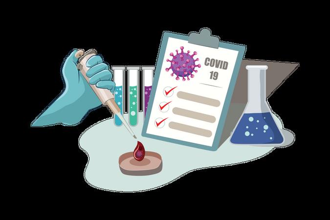 Positive report in Medical Lab Test Illustration