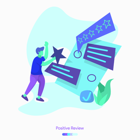 Positive Review Illustration