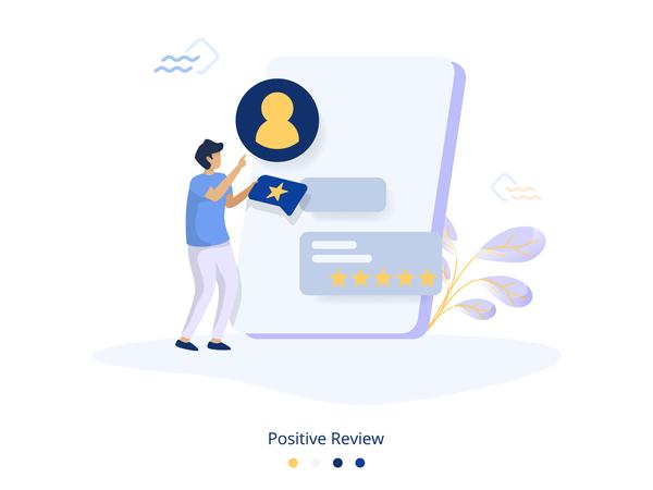 Positive Review Illustration Illustration