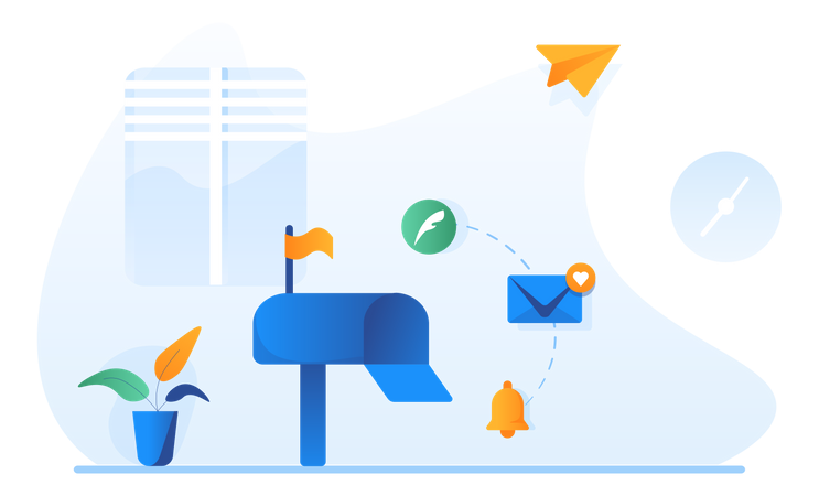 Post Box Illustration