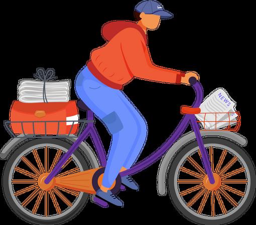 Post office male worker Illustration