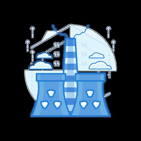 Power Plant Illustration