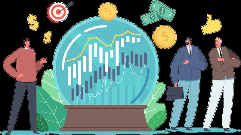 Prediction of Market Trends Illustration