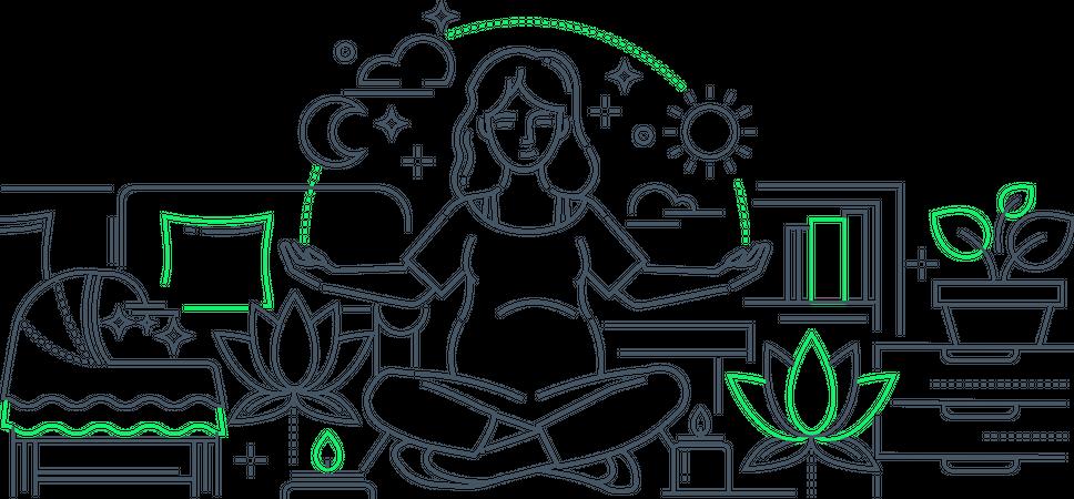 Pregnancy yoga Illustration
