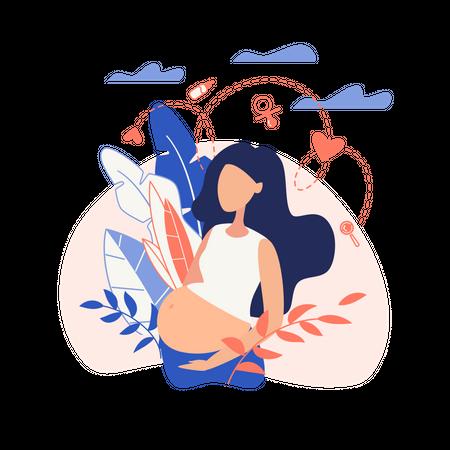 Pregnant women Illustration