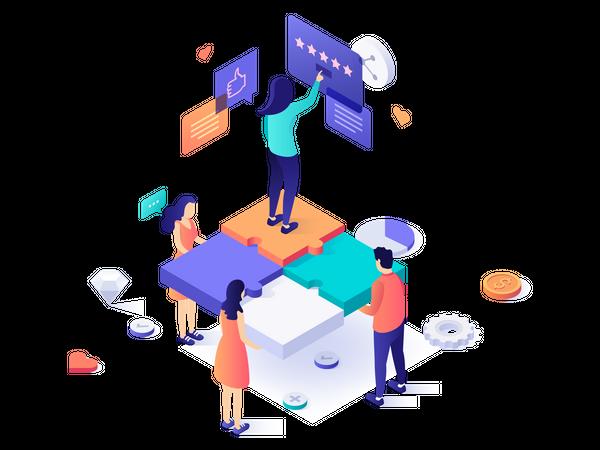 Premium quality customer service Illustration