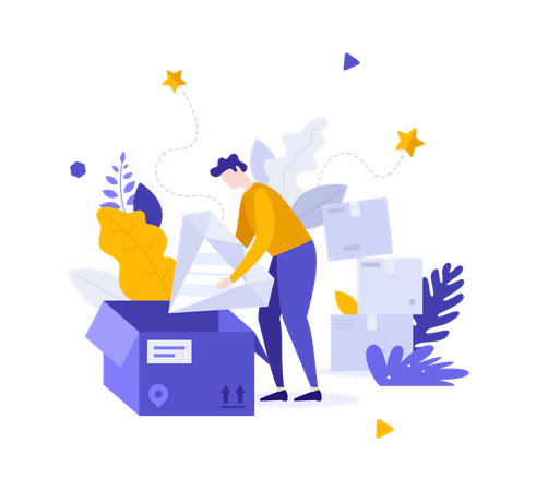 Premium quality product delivery Illustration