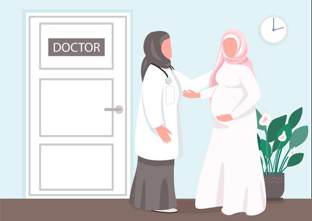 Prenatal consultation Illustration