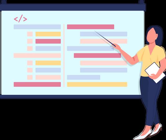 Presentation on programming Illustration