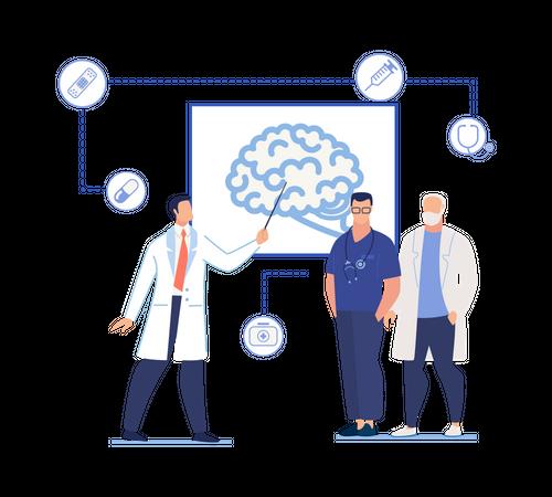 Presentation related  human brain Illustration
