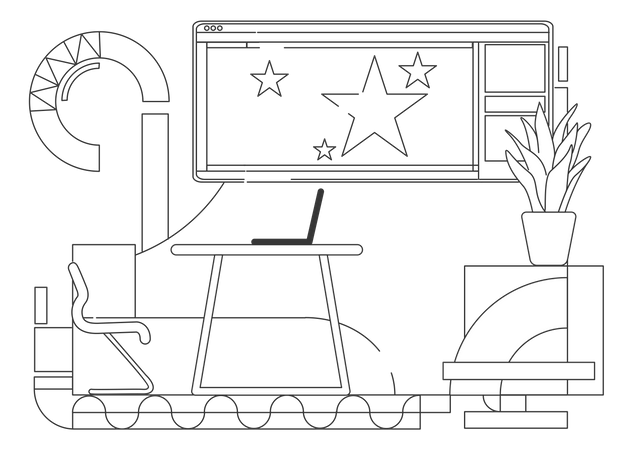 Presentation room Illustration