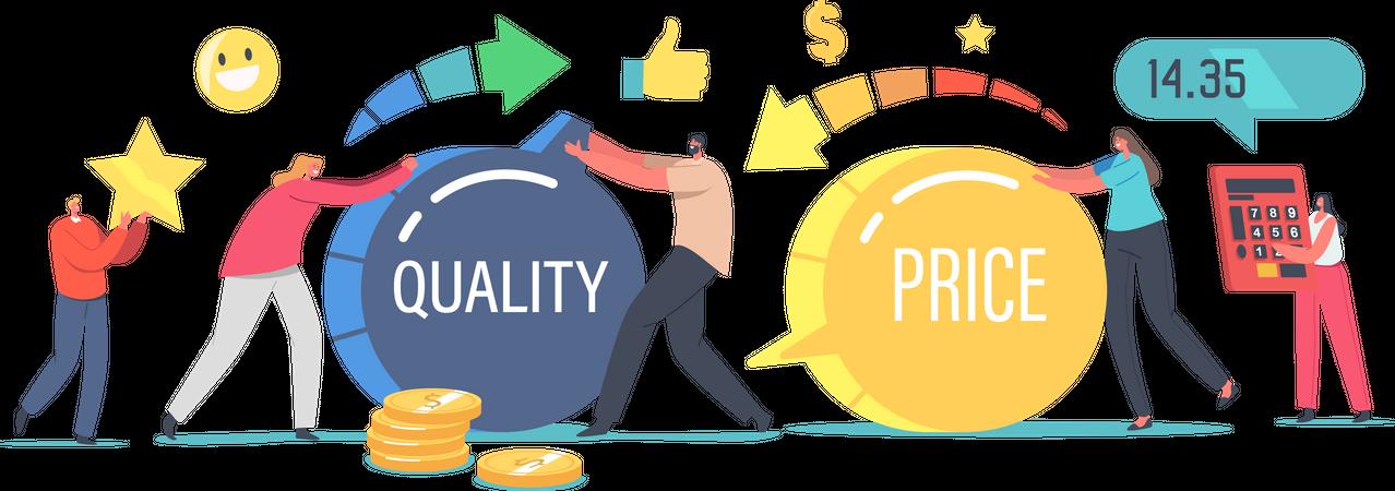 Price and Quality Balance Illustration