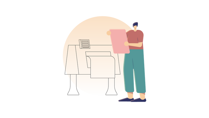 Printing to Delivery Illustration