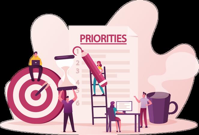 Priorities Organize Illustration