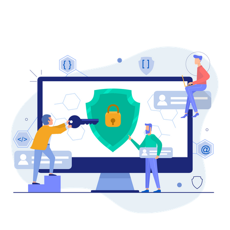 Privacy protection Illustration