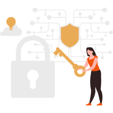 Private cloud storage Illustration